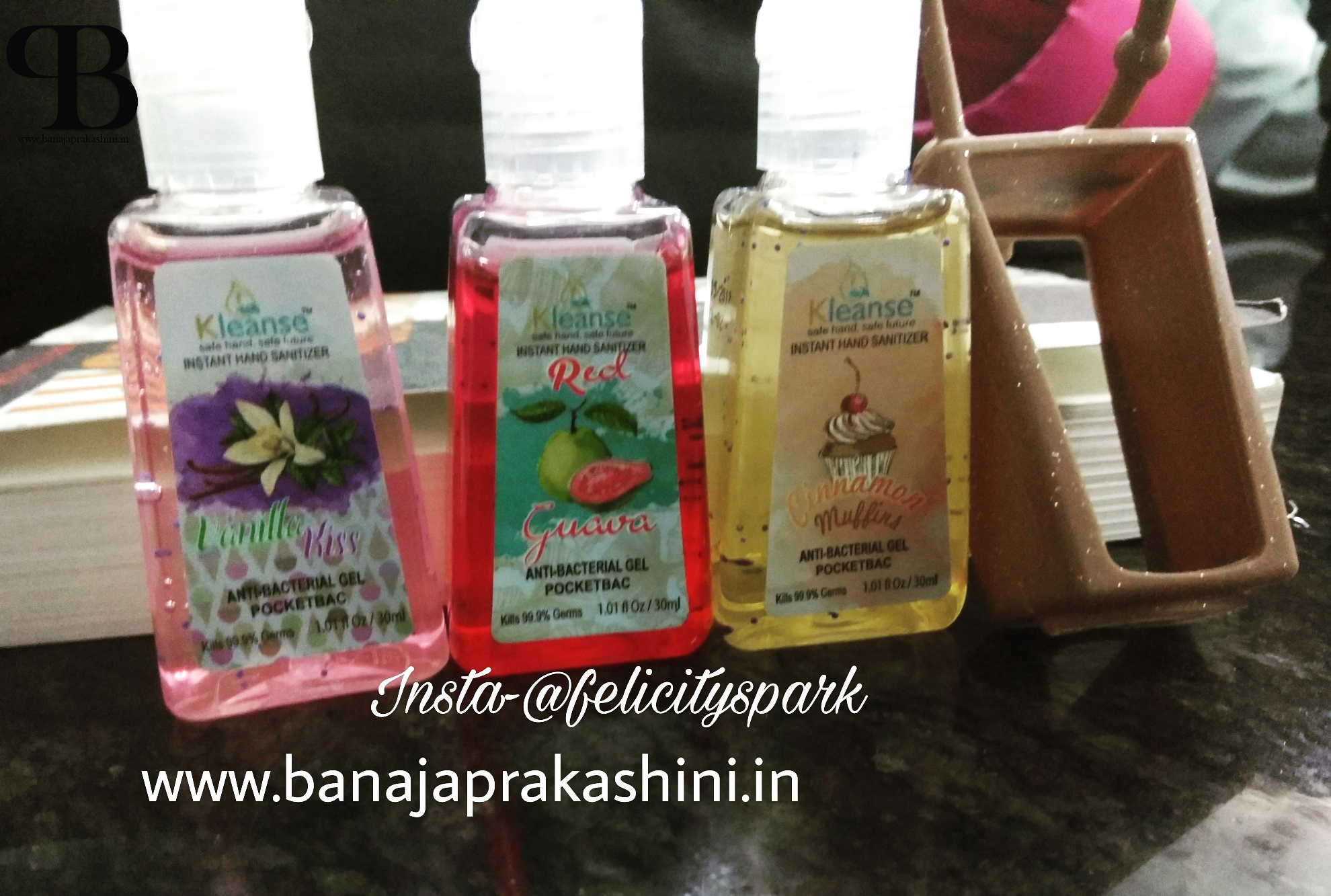 Product Review: Kleanse Hand Sanitizers | Banaja Prakashini blog
